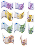Save money. This image shows banknotes in different positions Stock Photos