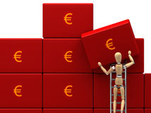 Save money. A easy way to save money is a good personal goals for next year. Another brick in the wall stock illustration