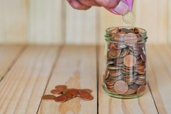 Save money and account banking for finance business concept stock photography