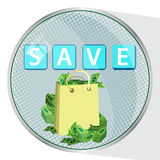 Save money button concept. illustration Royalty Free Stock Images