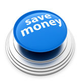 Save money button Royalty Free Stock Photography