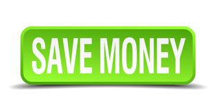 save money button royalty free illustration