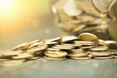 Save money coins Royalty Free Stock Images