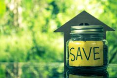 Save money concept save money. Save money concept save money for the future Stock Photography
