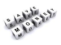 Save money message Stock Photo