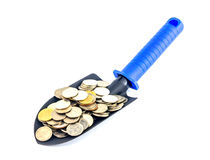Save money,Money on trowel Stock Photo