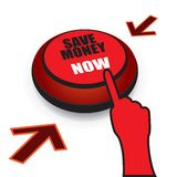 Save money now button Royalty Free Stock Photos