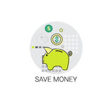 Save Money Piggy Bank Icon Royalty Free Stock Photo