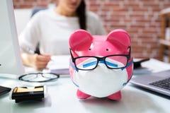 Free Save Money Piggybank And Budgeting Stock Image - 189287121