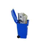 Save money recycling Stock Image