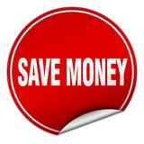 Save money sticker. Save money round sticker isolated on wite background. save money royalty free illustration