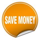 Save money sticker. Save money round sticker isolated on wite background. save money vector illustration