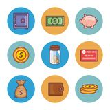 Save money set collection icons. Vector illustration design Royalty Free Stock Image