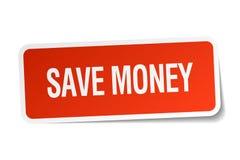 Save money sticker. Save money square sticker isolated on white background. save money vector illustration