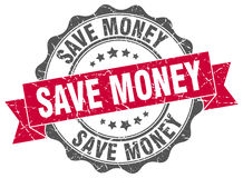 Save money stamp Royalty Free Stock Photography