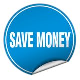 Save money sticker. Save money round sticker isolated on wite background. save money stock illustration