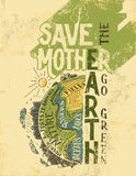 Save the Mother Earth concept eco poster Royalty Free Stock Photos