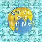 Save nasz planeta Ziemskiego dzień Obrazy Royalty Free