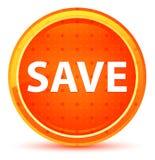 Save Natural Orange Round Button royalty free illustration