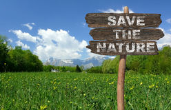 Save the nature! Stock Photos