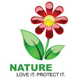 Save Nature stock illustration