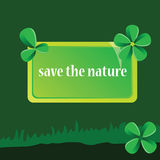 Save the nature art vector illustration Stock Photography
