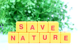 Save nature. Beautiful shot of save energy Royalty Free Stock Image