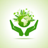 Save nature concept with eco cityscape Royalty Free Stock Image