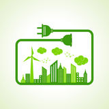 Save Nature Concept with Ecocity Stock Photos