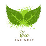 Save Nature concept with green leaves. Royalty Free Stock Photo
