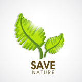 Save nature concept with green leaves. Stock Photo