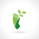 Save nature concept - Illustration. Save nature concept with hand - Illustration Stock Image