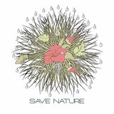 Save the nature. Ecology concept design. Vector illustration vector illustration