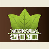 Save nature ecology label Royalty Free Stock Photo