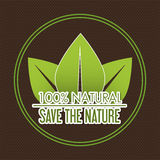 Save nature ecology label Royalty Free Stock Photos