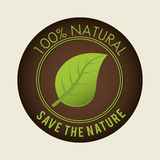 Save nature ecology label Stock Photo