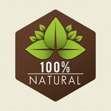 Save nature ecology label Royalty Free Stock Images