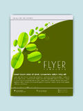 Save Nature flyer or template design. Royalty Free Stock Photo