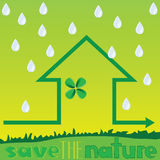 Save the nature with rain vector Royalty Free Stock Image