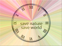 Save nature - save world. Save the world concept image Stock Images