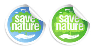 Save nature signs. Stock Images