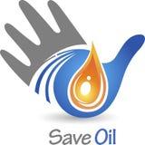 Save oil logo Stock Photo