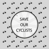 Save Our Cyclists Royalty Free Stock Photo