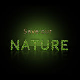 Save Our Nature Stock Photography