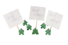 Save our nature and planet green meeting. On the white background Royalty Free Stock Photos