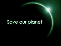 Save our planet Royalty Free Stock Image
