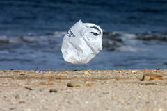 Save our planet. Took this picture of a plastic bag flying into the ocean Royalty Free Stock Photography
