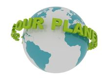 Save Our Planet Around the Earth Stock Images