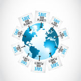 Save our planet concept Royalty Free Stock Photography