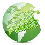 Save our planet globe Royalty Free Stock Images